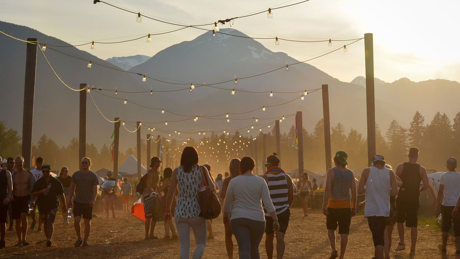 festival in pemberton with mount currie in the background