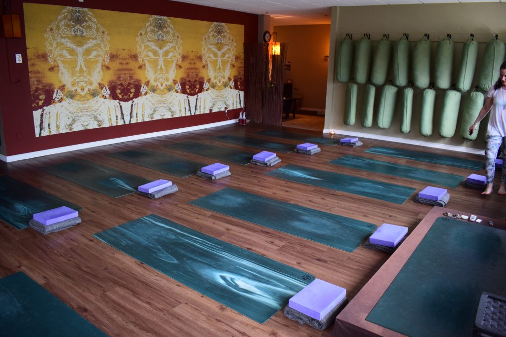 Photo of the inside of Yogacara studio located in Whistler BC. The ideal movement therapy during winter.