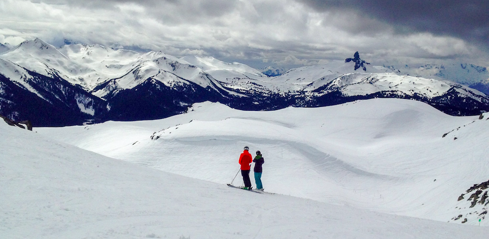 Skiers in Whistler